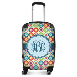 Retro Circles Suitcase (Personalized)