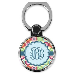 Retro Circles Cell Phone Ring Stand & Holder (Personalized)