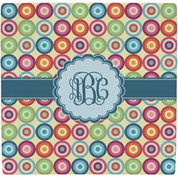 Retro Circles Ceramic Tile Hot Pad (Personalized)