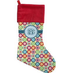 Retro Circles Christmas Stocking (Personalized)