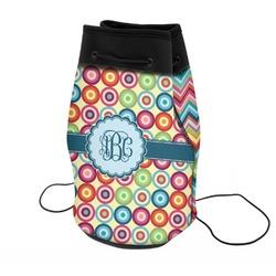 Retro Circles Neoprene Drawstring Backpack (Personalized)