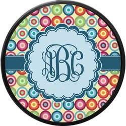 Retro Circles Round Trailer Hitch Cover (Personalized)