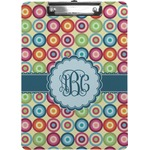 Retro Circles Clipboard (Personalized)