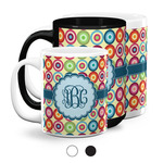 Retro Circles Coffee Mugs (Personalized)