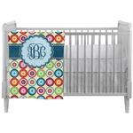 Retro Circles Crib Comforter / Quilt (Personalized)