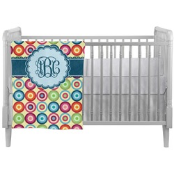 Retro Circles Crib Comforter / Quilt (Personalized)
