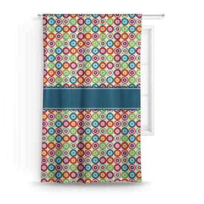 "Retro Circles Curtain - 50""x84"" Panel (Personalized)"