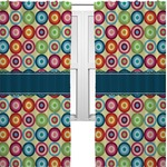 Retro Circles Curtains (2 Panels Per Set) (Personalized)