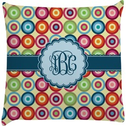 Retro Circles Decorative Pillow Case (Personalized)