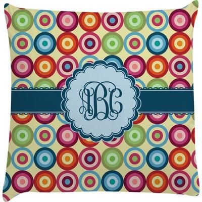 Retro Circles Decorative Pillow Case (Personalized)