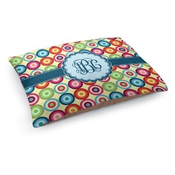 Retro Circles Dog Pillow Bed (Personalized)