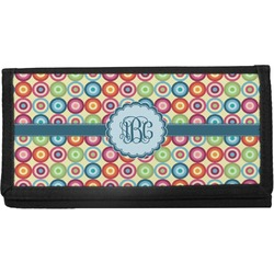 Retro Circles Canvas Checkbook Cover (Personalized)