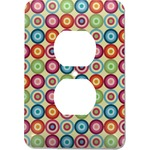 Retro Circles Electric Outlet Plate (Personalized)