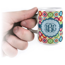 Retro Circles Espresso Mug - 3 oz (Personalized)