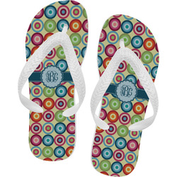 Retro Circles Flip Flops (Personalized)