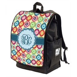 Retro Circles Backpack w/ Front Flap  (Personalized)