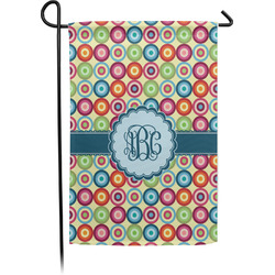 Retro Circles Garden Flag - Single or Double Sided (Personalized)