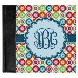 Retro Circles Genuine Leather Baby Memory Book (Personalized)