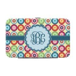 Retro Circles Genuine Leather Small Framed Wallet (Personalized)