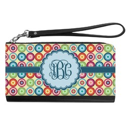 Retro Circles Genuine Leather Smartphone Wrist Wallet (Personalized)