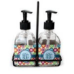 Retro Circles Soap & Lotion Dispenser Set (Glass) (Personalized)
