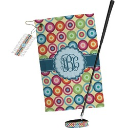 Retro Circles Golf Towel Gift Set (Personalized)