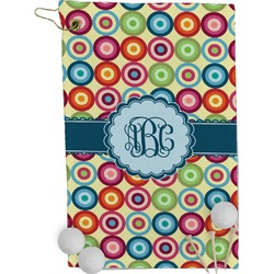 Retro Circles Golf Towel - Full Print (Personalized)