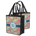 Retro Circles Grocery Bag (Personalized)