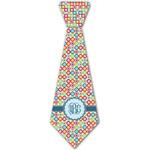 Retro Circles Iron On Tie - 4 Sizes w/ Monogram