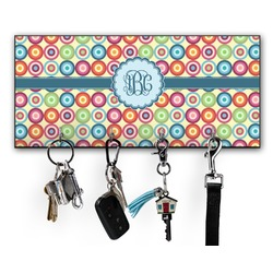 Retro Circles Key Hanger w/ 4 Hooks (Personalized)