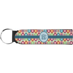 Retro Circles Keychain Fob (Personalized)