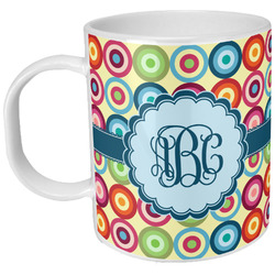 Retro Circles Plastic Kids Mug (Personalized)