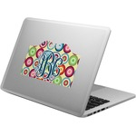 Retro Circles Laptop Decal (Personalized)