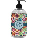 Retro Circles Plastic Soap / Lotion Dispenser (Personalized)