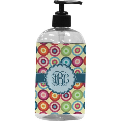 Retro Circles Plastic Soap / Lotion Dispenser (Personalized)