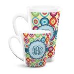 Retro Circles Latte Mug (Personalized)
