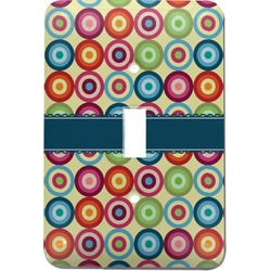 Retro Circles Light Switch Cover (Single Toggle) (Personalized)