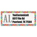 Retro Circles Return Address Labels (Personalized)