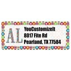 Retro Circles Return Address Label (Personalized)