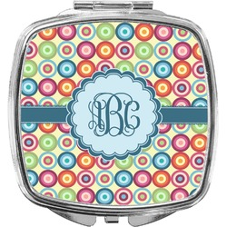 Retro Circles Compact Makeup Mirror (Personalized)