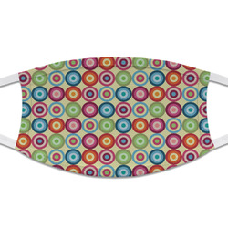 Retro Circles Cloth Face Mask (T-Shirt Fabric) (Personalized)