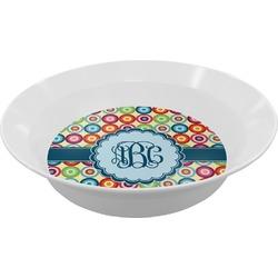 Retro Circles Melamine Bowls (Personalized)