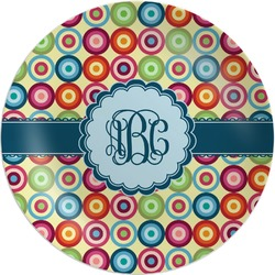 Retro Circles Melamine Plate (Personalized)