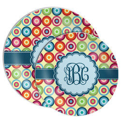 Retro Circles Melamine Plate (Personalized)