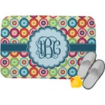 Retro Circles Memory Foam Bath Mat (Personalized)