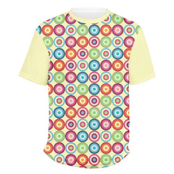 Retro Circles Men's Crew T-Shirt (Personalized)