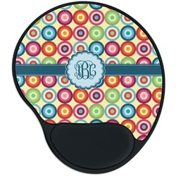 Retro Circles Mouse Pad with Wrist Support