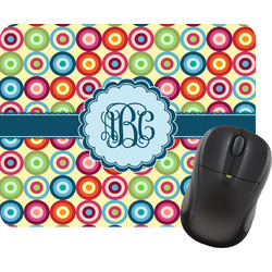 Retro Circles Rectangular Mouse Pad (Personalized)