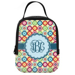 Retro Circles Neoprene Lunch Tote (Personalized)