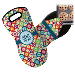 Retro Circles Neoprene Oven Mitt (Personalized)